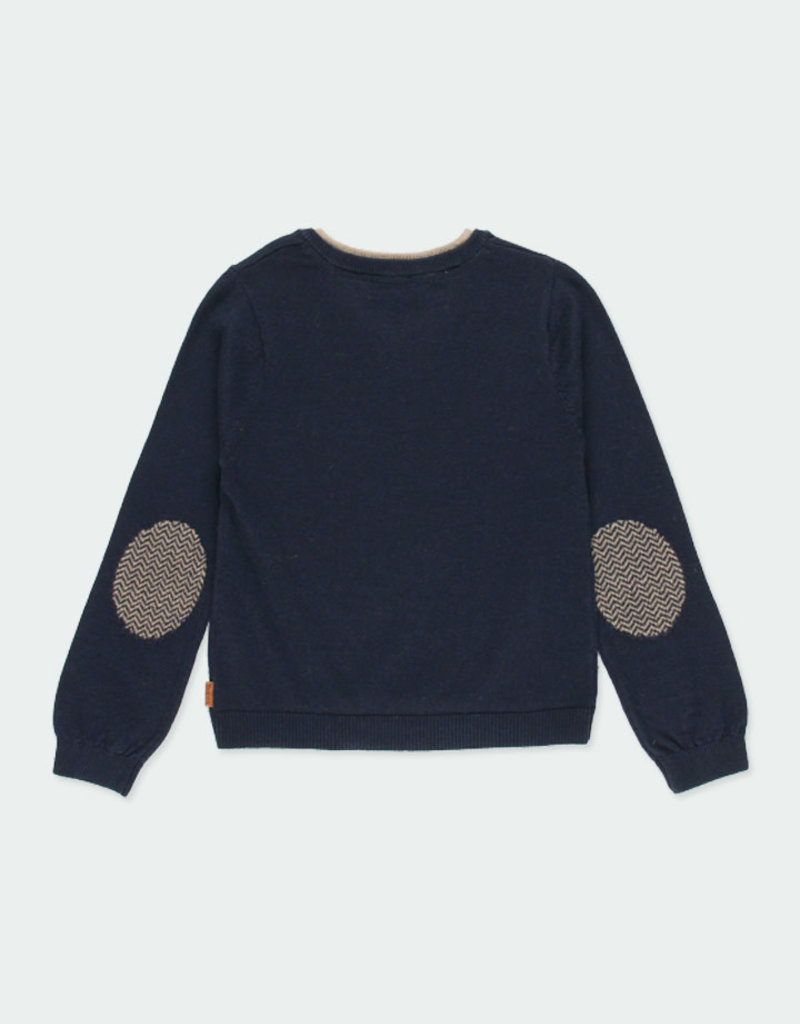 Boboli Boboli Knitwear pullover with elbow patches for boy NAVY 731102