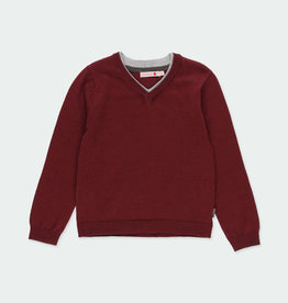 Boboli Boboli Knitwear pullover with elbow patches for boy plum 731102