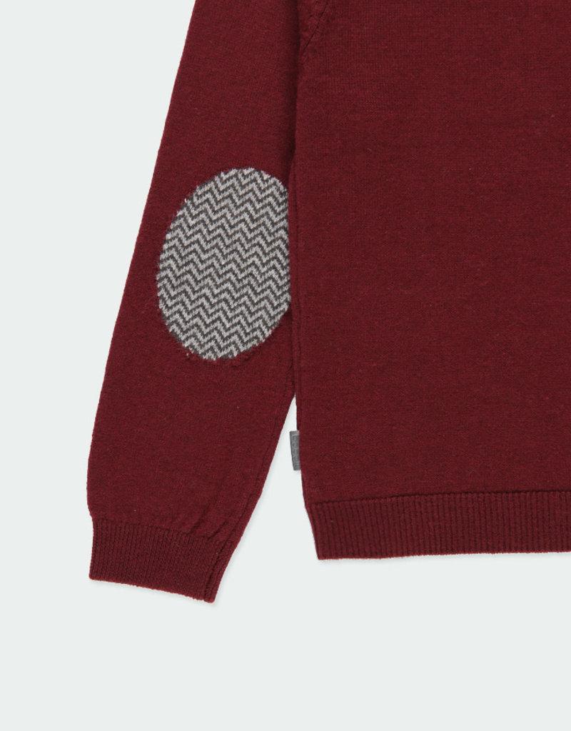 Boboli Boboli Knitwear pullover with elbow patches for boy plum 731102