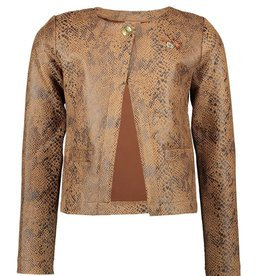 Le Chic Le Chic cardigan snake leather look C008-5125 Cinnamon