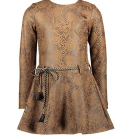 Le Chic Le Chic dress snake leather look C008-5825 Cinnamon