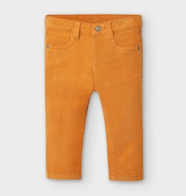 Mayoral Mayoral Basic slim fit cord trousers Cheddar - 20 00502