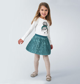 Mayoral Mayoral Pleated skirt Duck Green - 20 04955