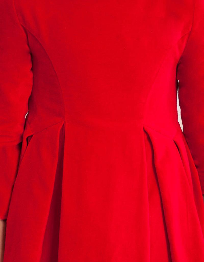 Abel & Lula Abel & Luna Velver dress Red - 20 05574