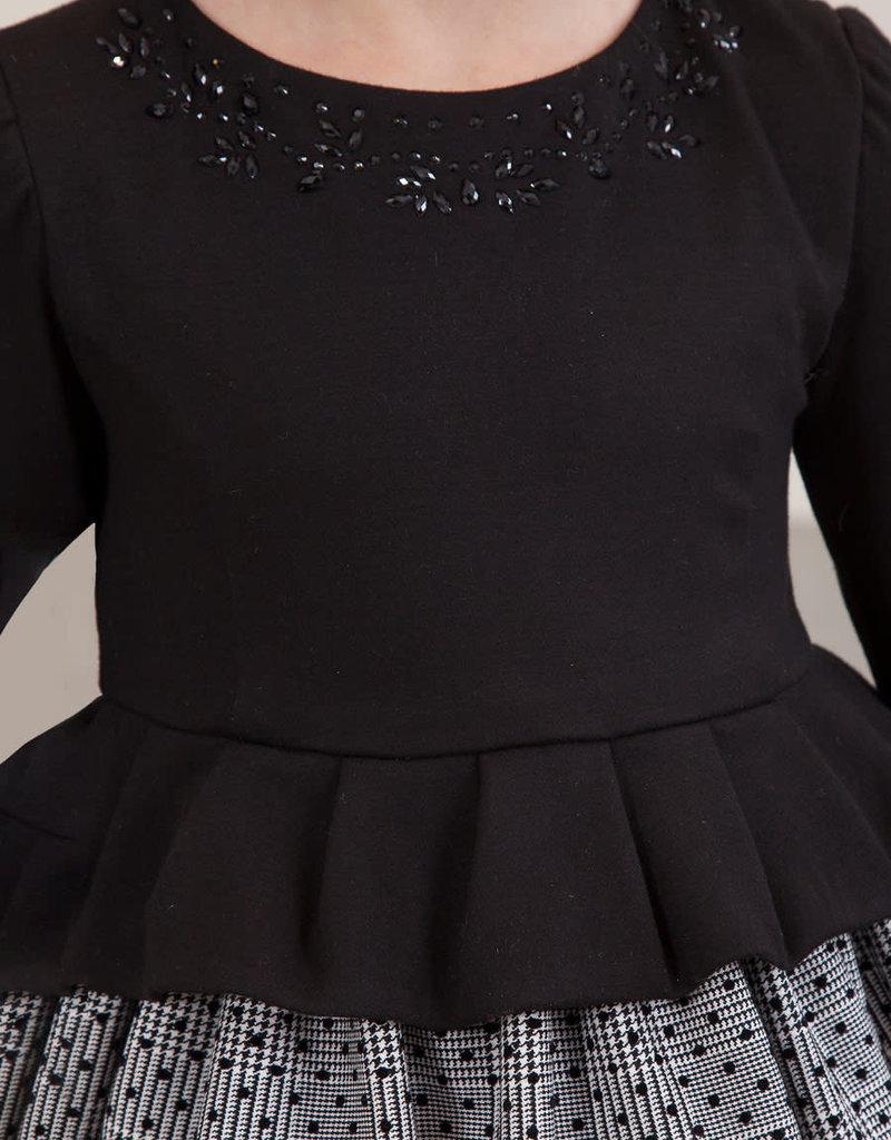 Abel & Lula Abel & Luna Plaid dress Black - 20 05572