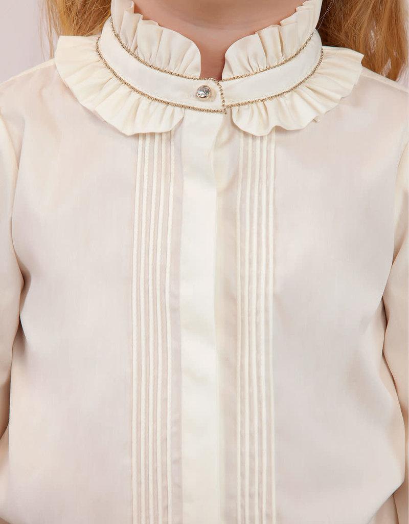 Abel & Lula Abel & Luna Satin poplin blouse Natural - 20 05606