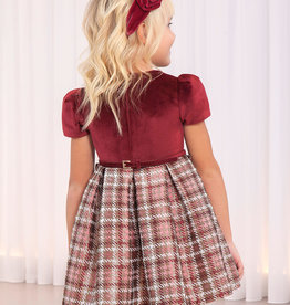 Abel & Lula Abel & Luna Plaid jacquard dress Maroon - 20 05550