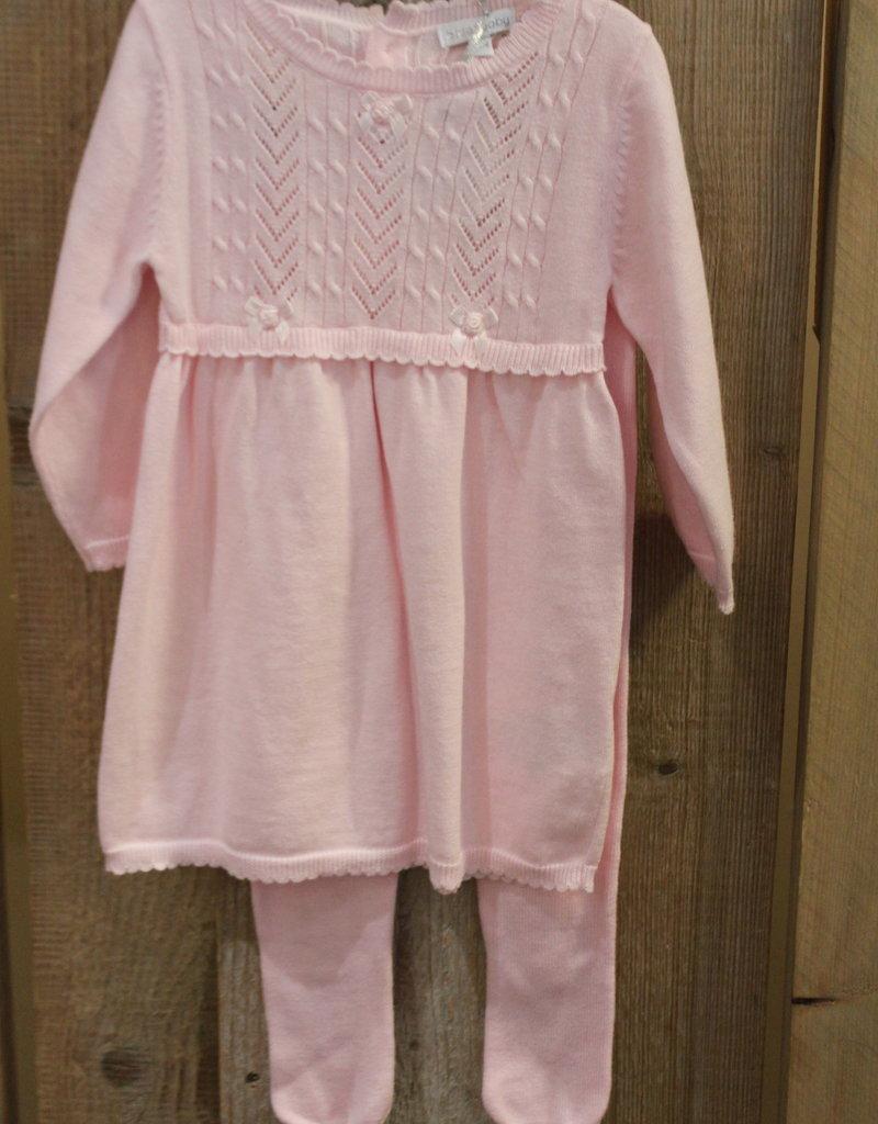 Blues baby Blue wear Jurkje roze gebreid met maillots