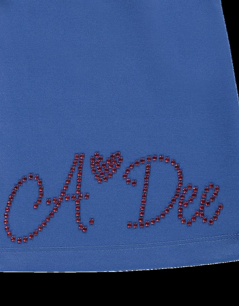 A'Dee ADee Jurk kobalt met wijde mouwen