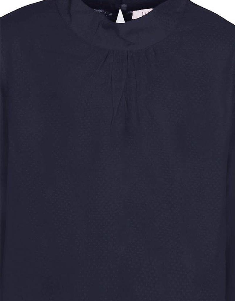 D-XEL blouse met kraagje en kanten achterkant