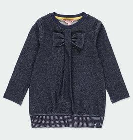 Boboli Boboli Fleece dress for girl NAVY 401072