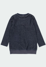 Boboli Boboli Fleece dress for girl NAVY 401072