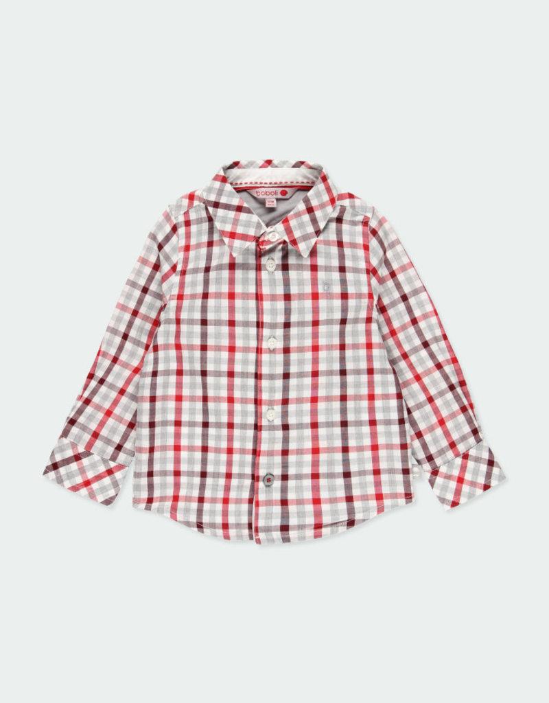 Boboli Boboli Poplin shirt check for baby boy checks 711009