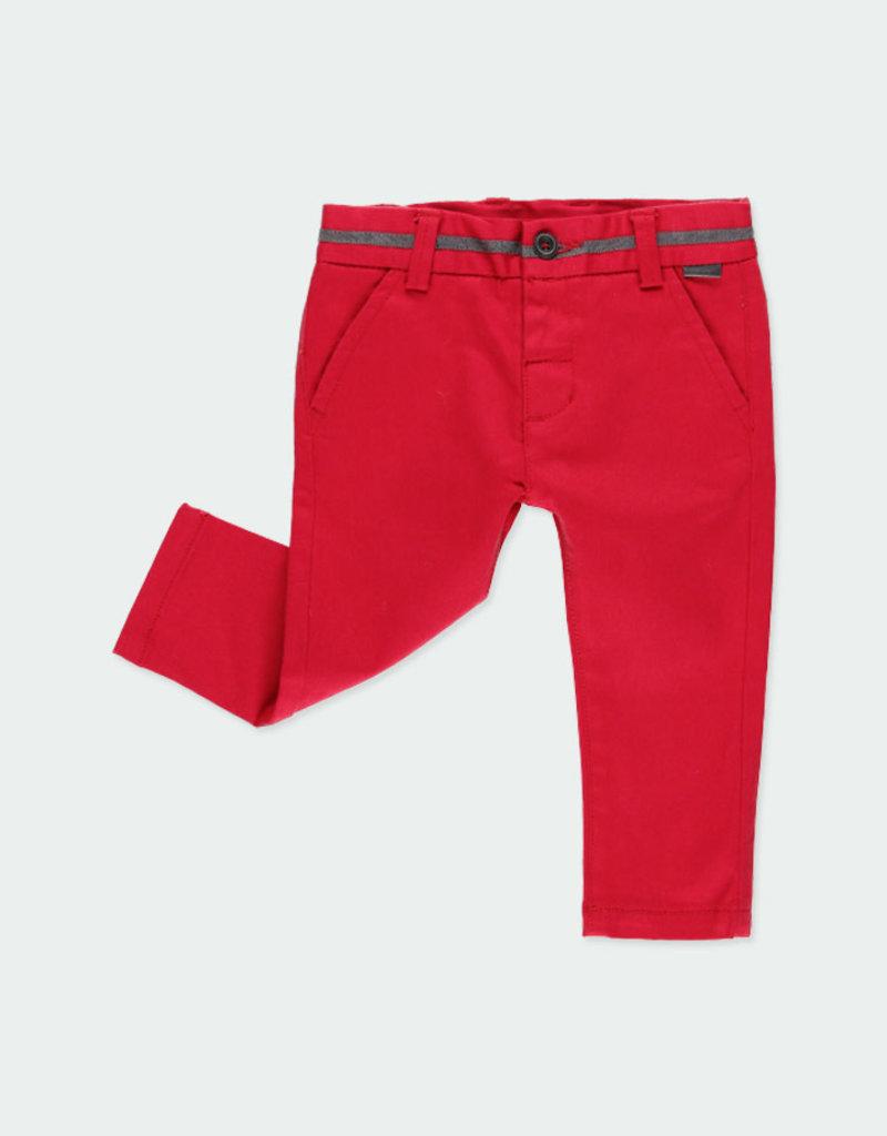 Boboli Boboli Stretch twill trousers for baby boy berry 711054