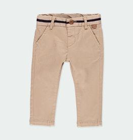 Boboli Boboli Stretch twill trousers for baby boy beig 711054