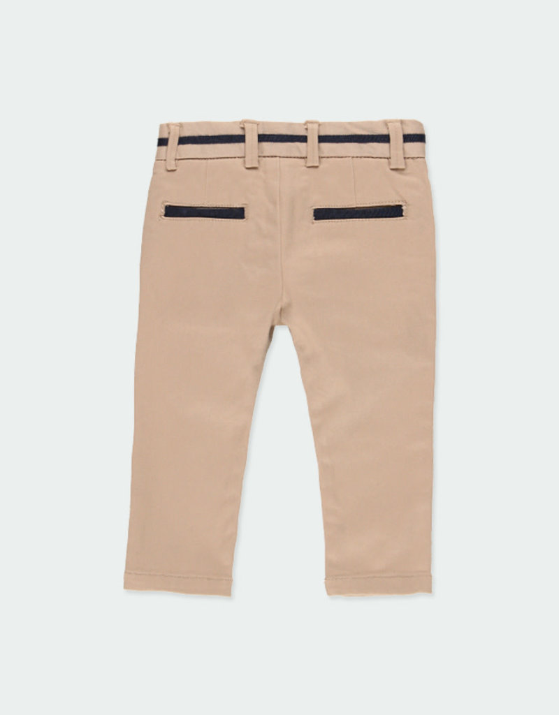 Boboli Boboli Stretch twill trousers for baby boy beig 711054