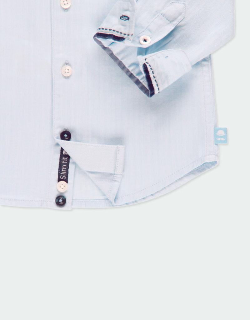 Boboli Boboli Long sleeves shirt for baby boy baltic 711212