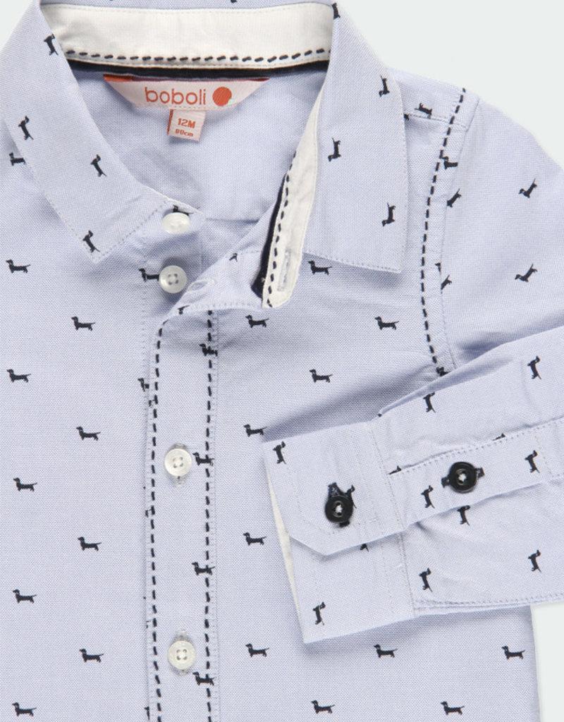 Boboli Boboli Oxford long sleeves shirt for baby boy print 711234