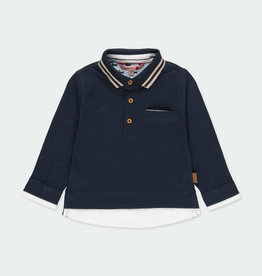 Boboli Boboli Knit combined polo for baby boy NAVY 711313