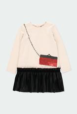 "Boboli Boboli Knit dress ""handbag"" for girl ivory 721246"