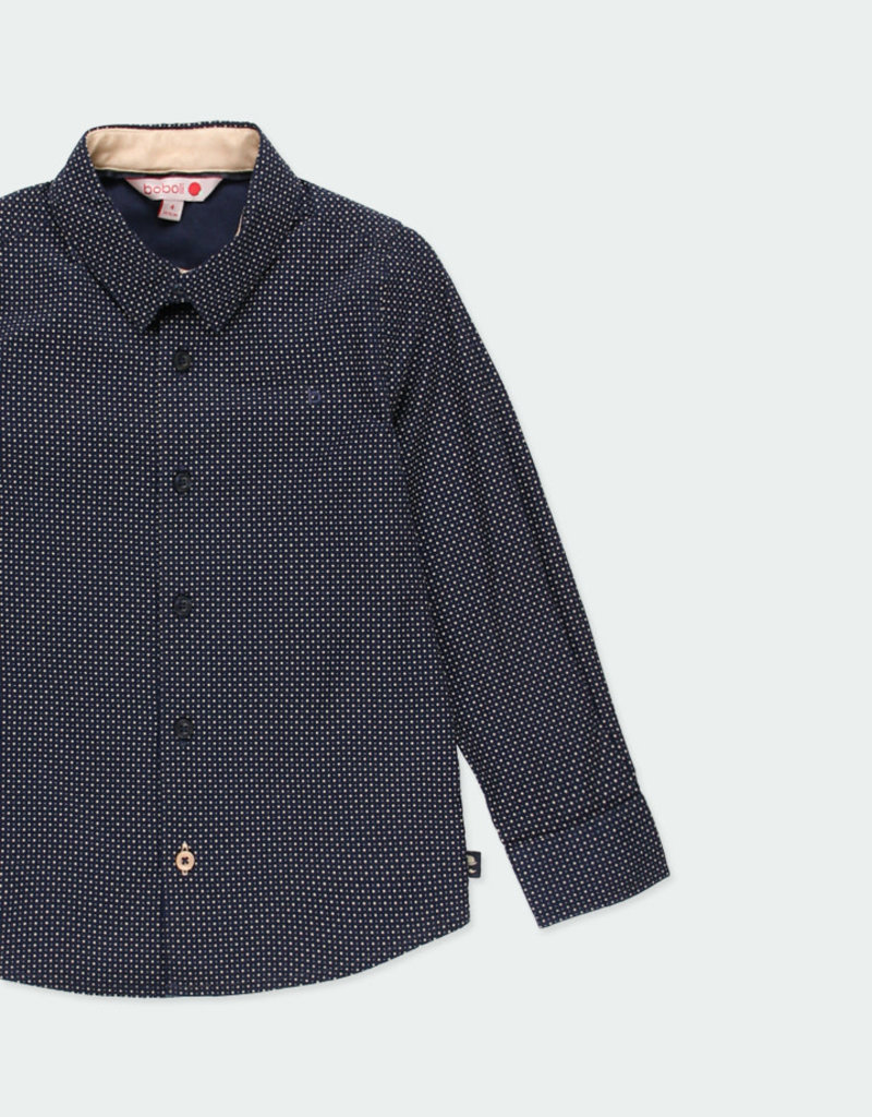 Boboli Boboli Poplin shirt with elbow patches for boy print 731281