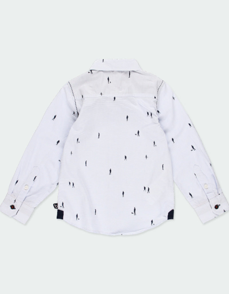 Boboli Boboli Poplin shirt striped for boy print 731304