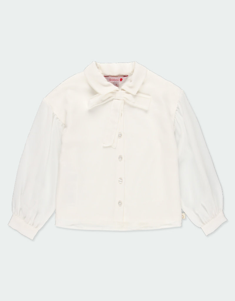 Boboli Boboli Blouse with gauze for girl off white 721022