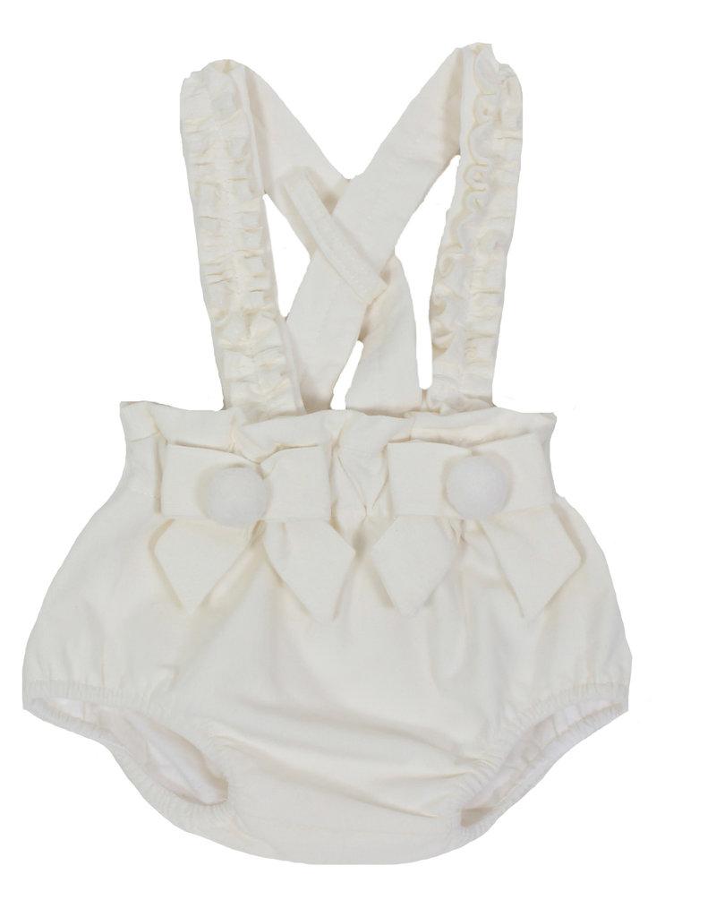 Dr Kid Dr Kid Carpenter Pants (Newborn) 000-Branco-DK179