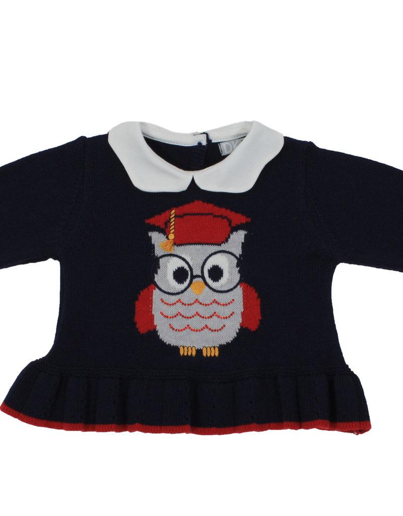 Dr Kid Dr Kid Baby Girl Dress 295-Marinho Esc-DK302