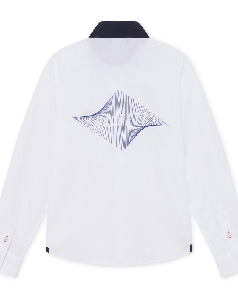 Hackett Hackett AMR LEFT CHEST LOGO Y WHITE/NAVY