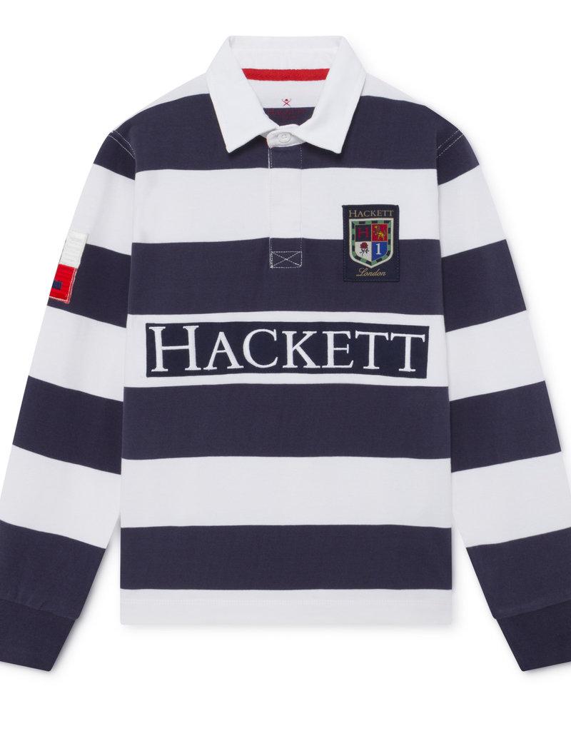 Hackett Hackett YD LG RUGBY LS Y NAVY/WHITE