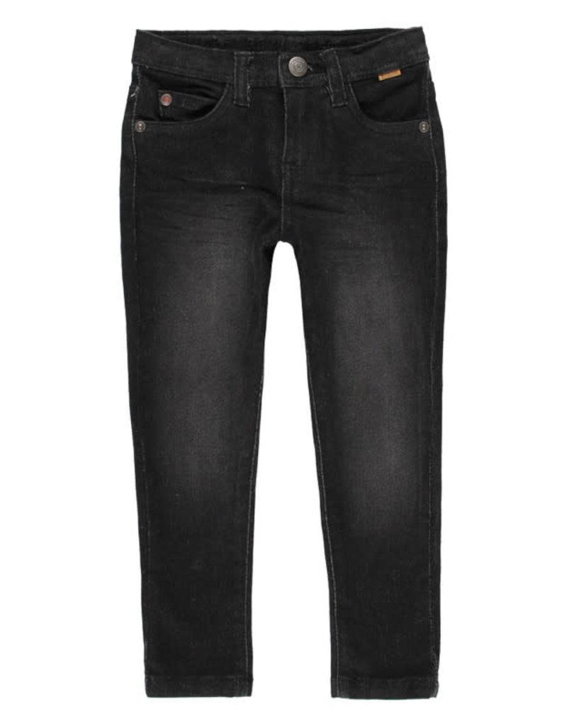 Boboli Boboli Denim stretch trousers for boy BLACK 590048