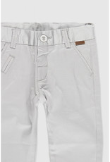 Boboli Boboli Stretch satin grey trousers for baby boy bone 719029