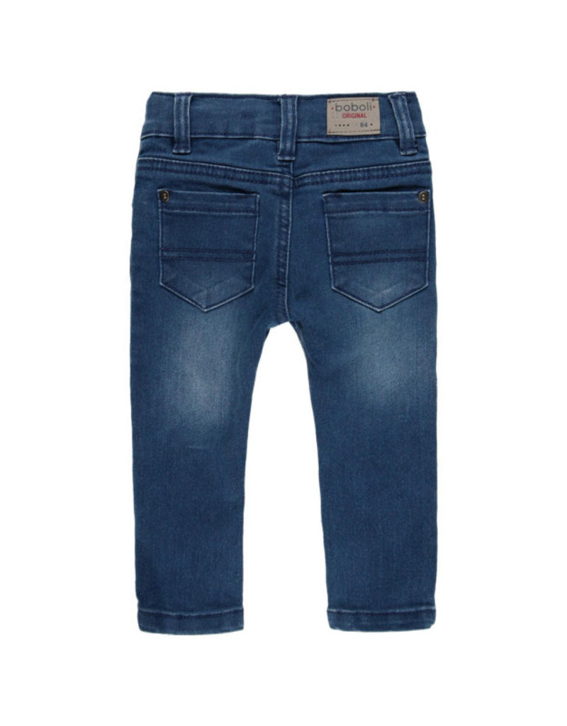 Boboli Boboli Denim stretch trousers for baby boy BLUE 390002