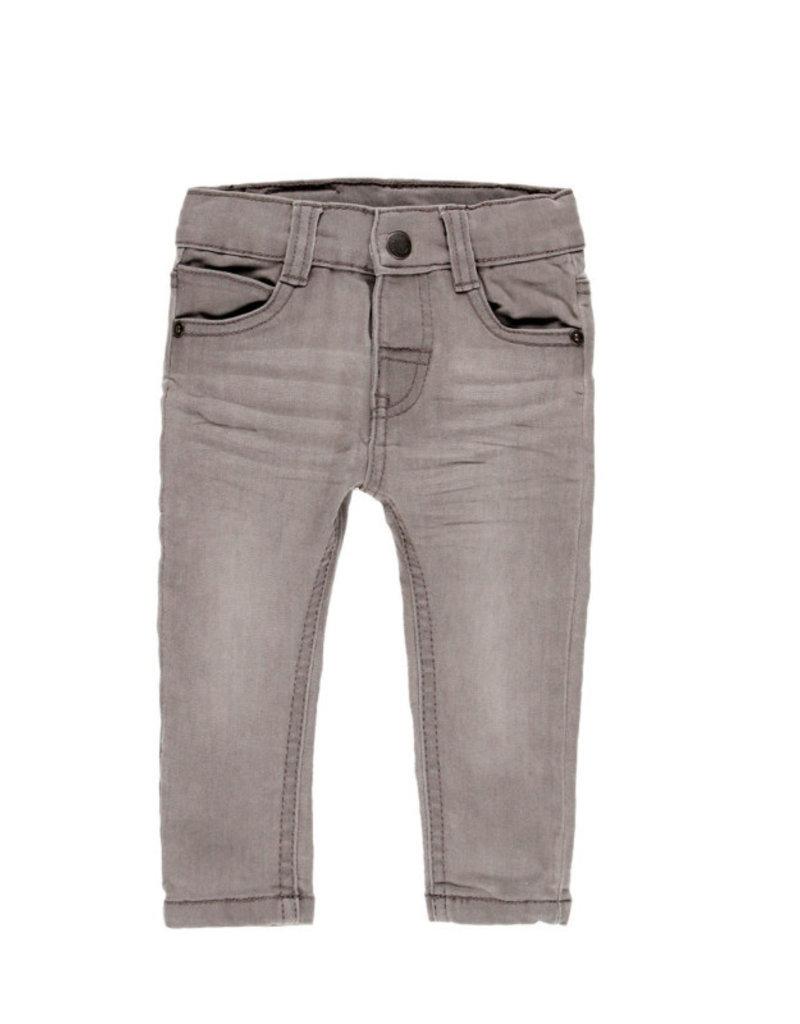 Boboli Boboli Denim stretch trousers for baby boy GREY 390002