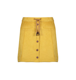 Nobell Nobell NishaB soft suede short A-line skirt with buttons Q008-3702 Yellow Gold