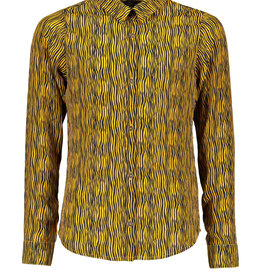 Nobell Nobell Tinka Zebra AOP blouse Q008-3100 Yellow Gold