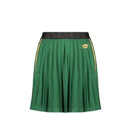 Nobell Nobell Nanace pleated mesh skirt with ribknit waistband Q008-3703 Wood