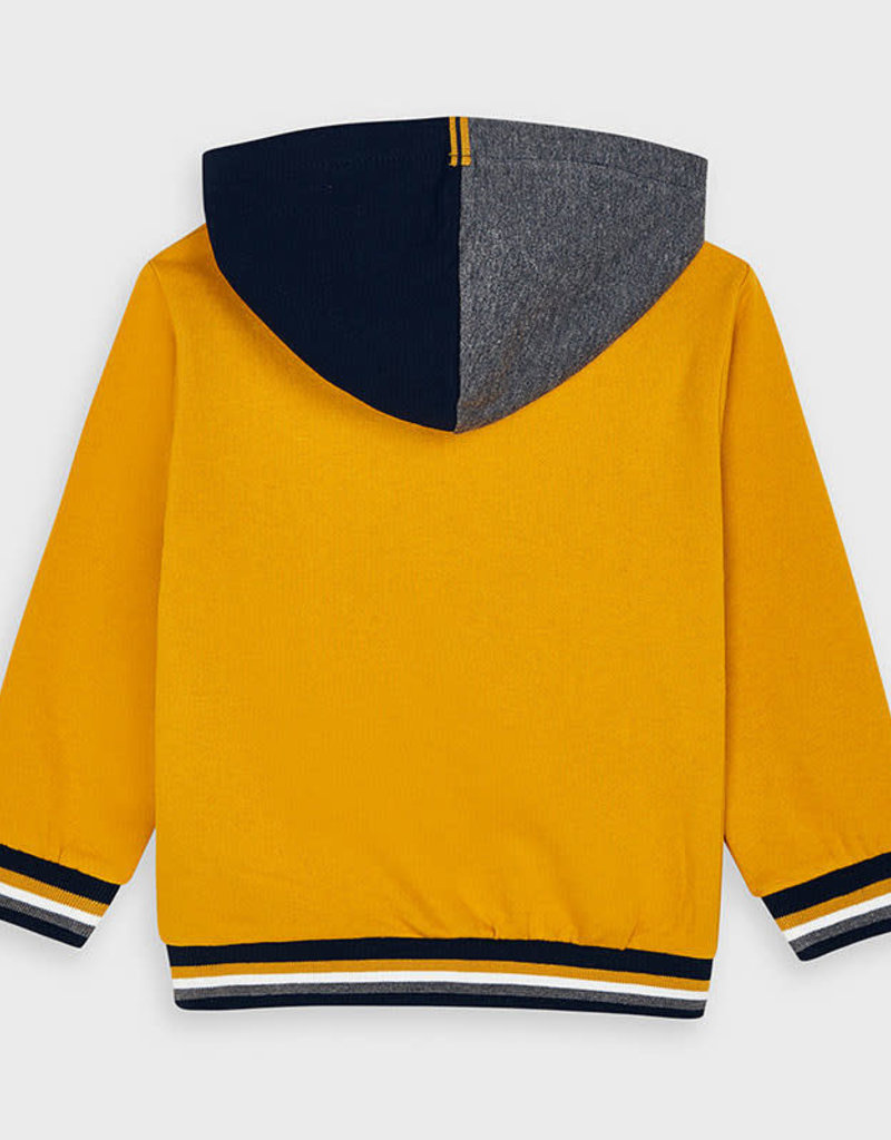 Mayoral Mayoral Two-tone hooded sweatshirt for boy