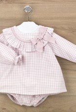 Babidu Babidu VALENCIA DRESS W/DIAPER COVER PINK-90308