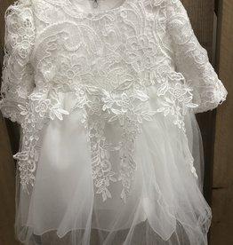 Doop jurk half lang met organza strik