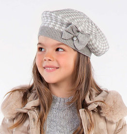 Mayoral Mayoral Houndstooth grey hat and scarf set for girl