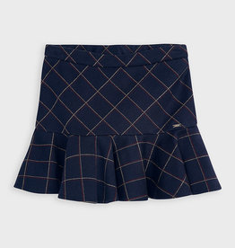 Mayoral Mayoral Checked skirt blue with ruffles for girl