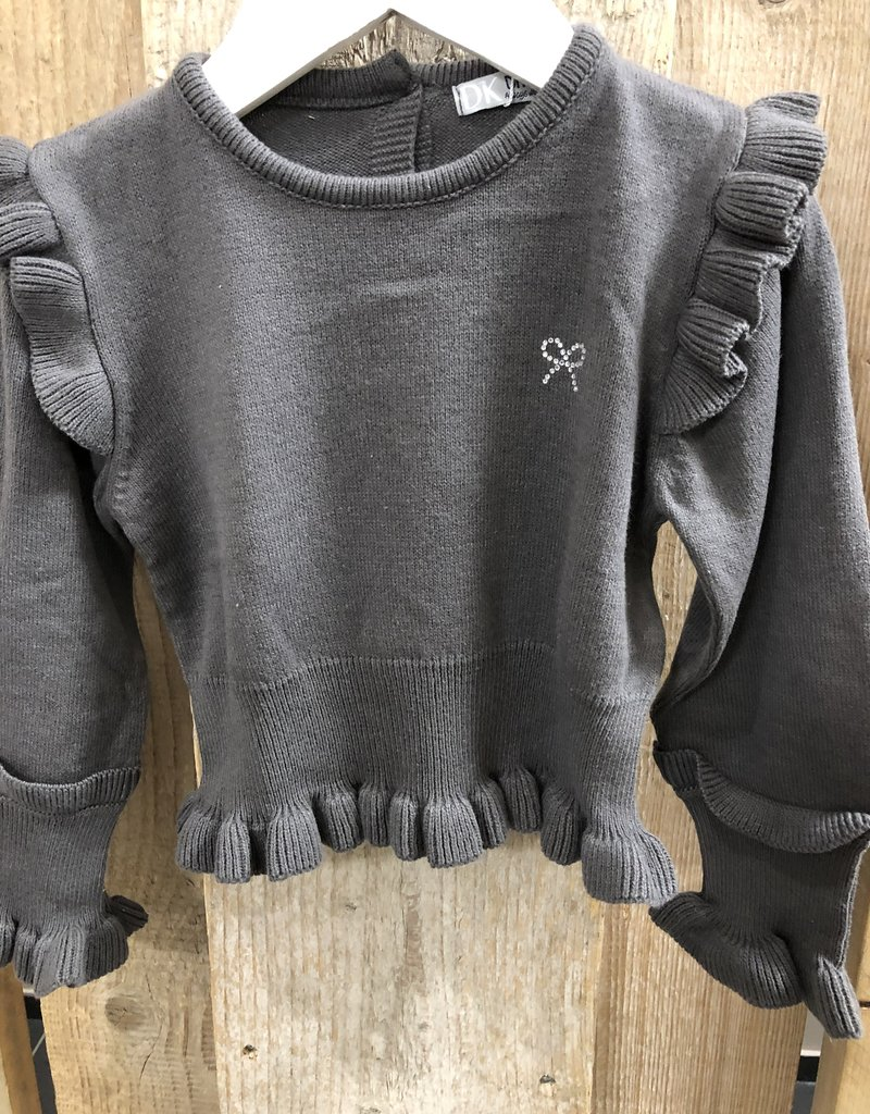 Dr Kid Dr Kid Girl Sweater 451-Cinza Escuro-DK465