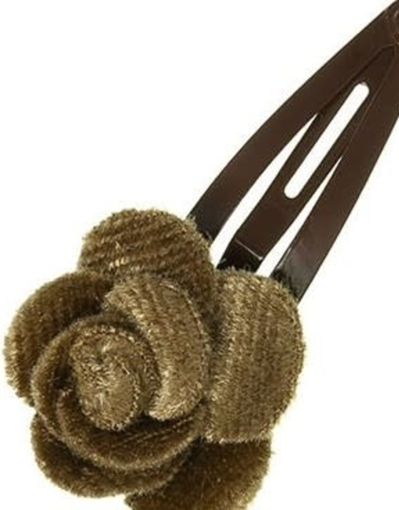 Siena Siena knipje fluweel roosje beige