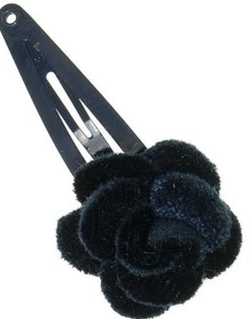 Siena Siena knipje fluweel roosje donkerblauw