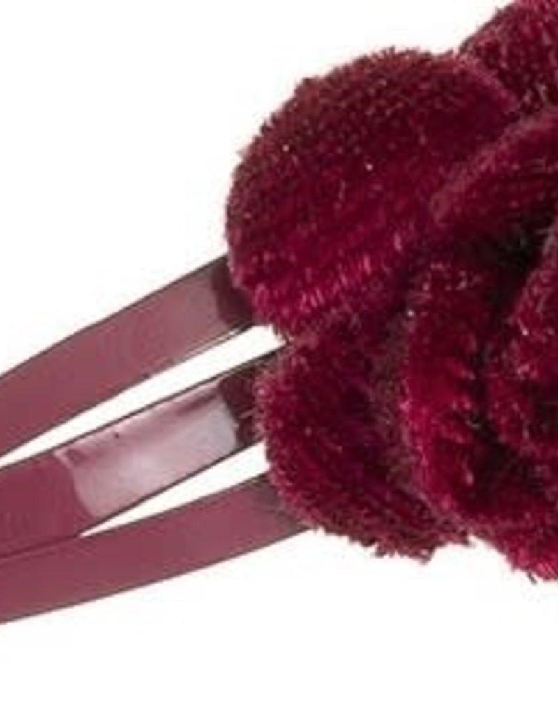 Siena Siena knipje fluweel roosje bordeaux