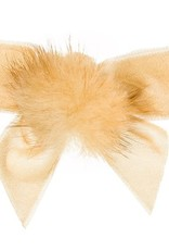 Siena Siena fluwelen strik beige met bontje