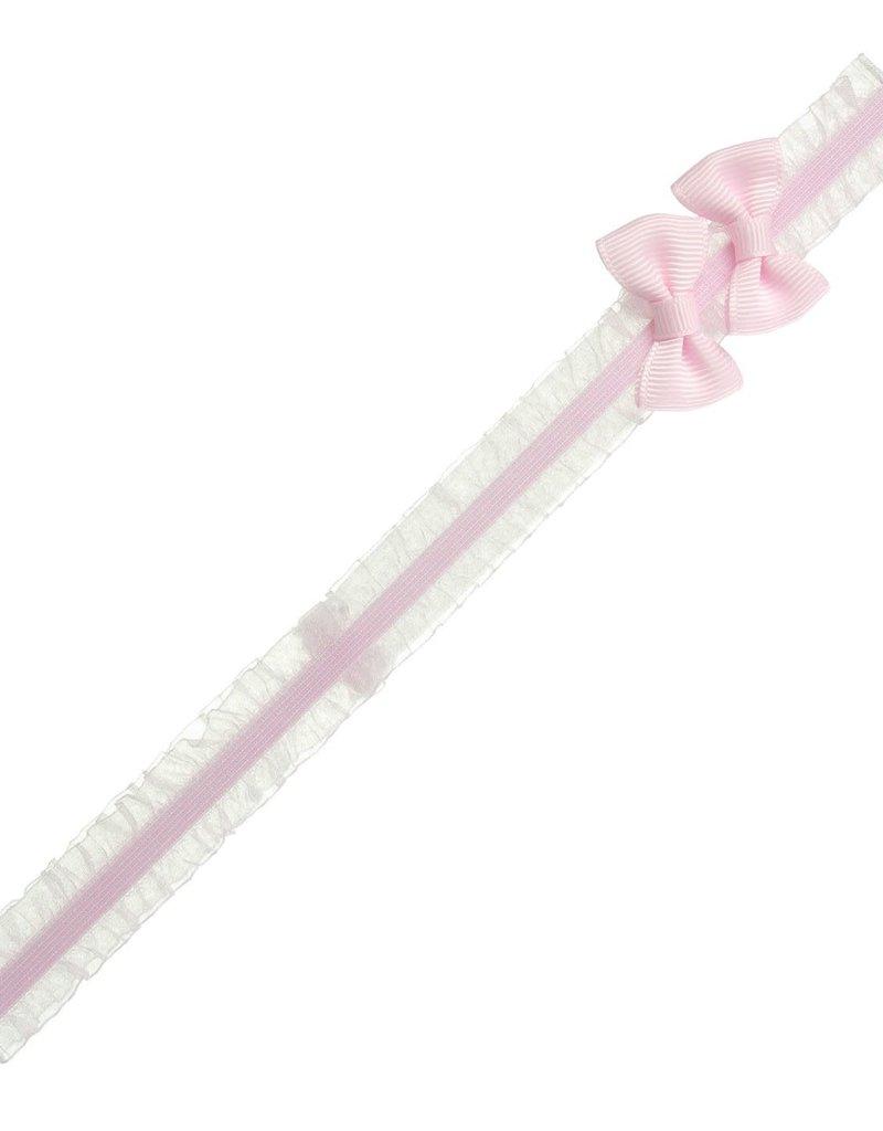 Siena Siena haarband roze met 2 strikjes