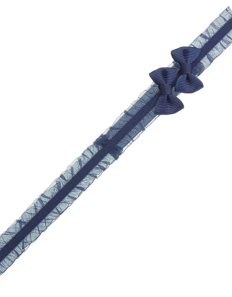 Siena Siena haarband  donkerblauw met 2 strikjes